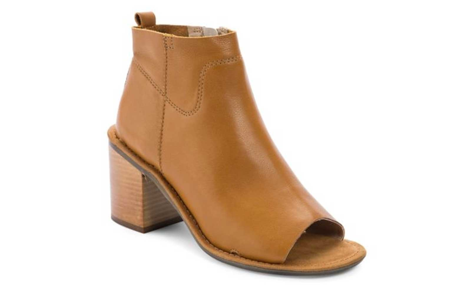 Open-Toe Booties For Fall