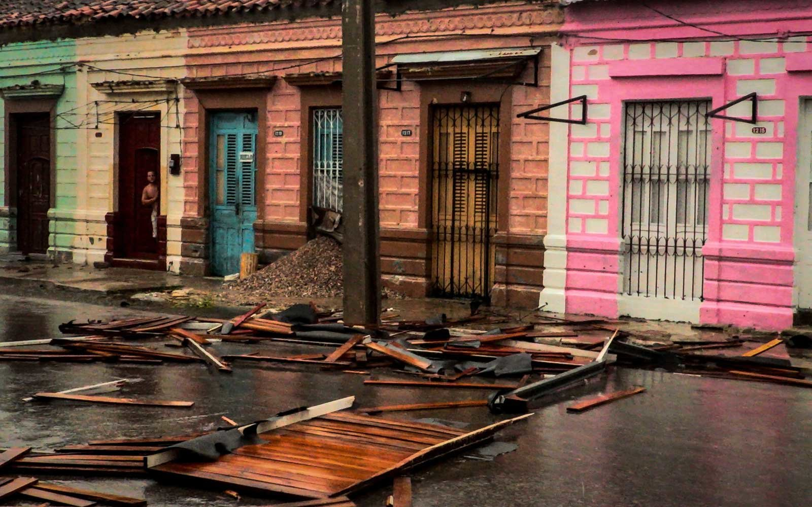 Damages caused by the passage of  Hurricane Irma in Caibarien, Villa Clara province, 330km east of Havana, on September 9, 2017