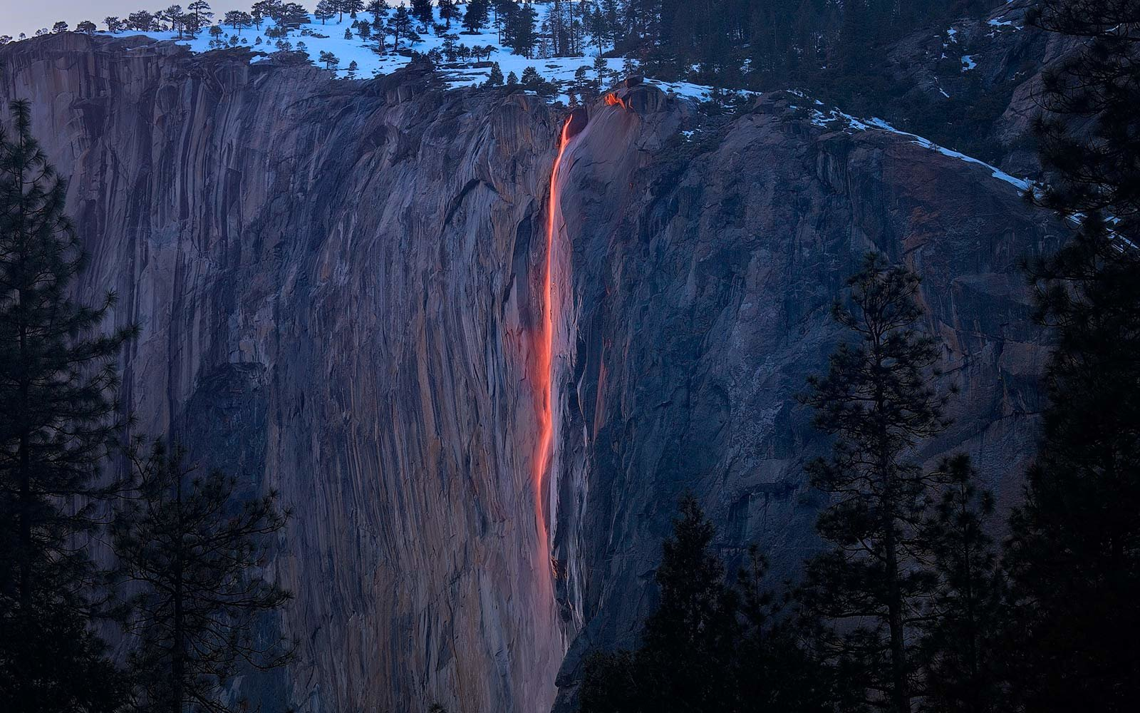 The Fire Falls, Yosemite National Park, California
