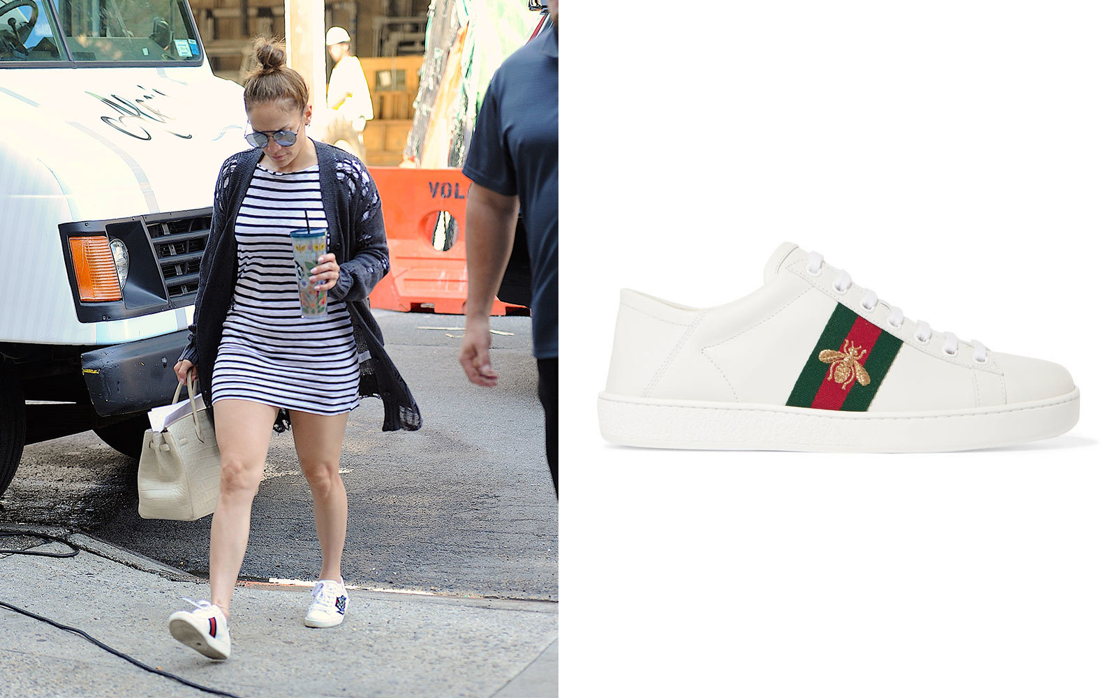 Jennifer Lopez in Gucci Sneakers