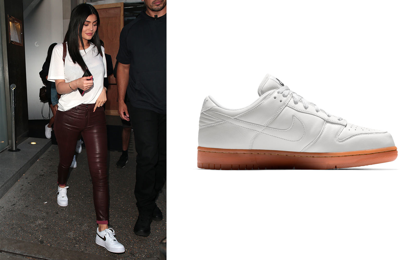 Kylie Jenner in Nike sneakers