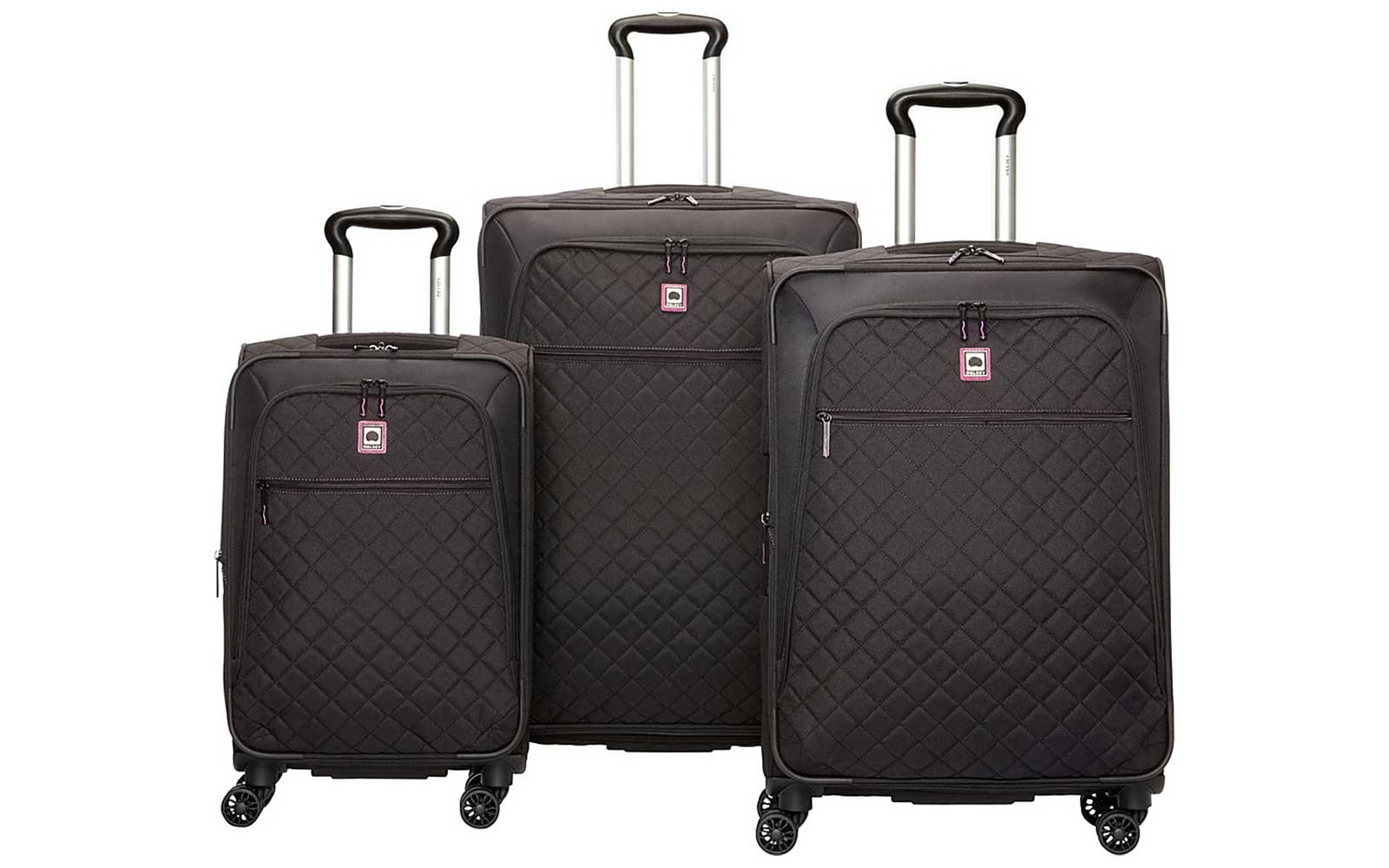 Delsey Black Quilted Luggage Set