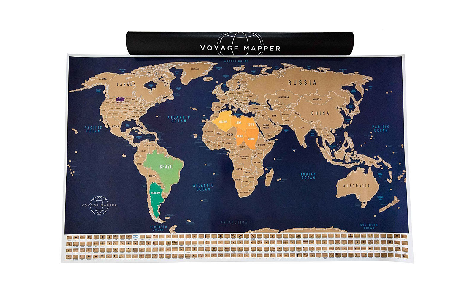 Voyage Mapper Scratch Off World Map
