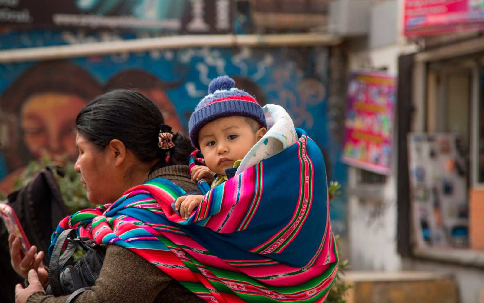 Mother and Child in Centro, La Paz, Bolivia