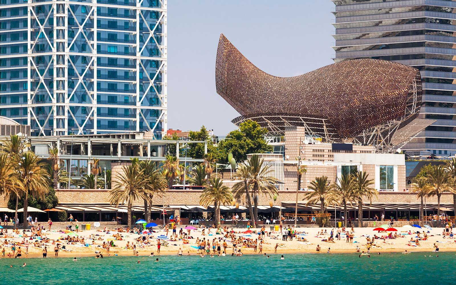 Barcelona Spain Flight Deal somorrostro beach tourism