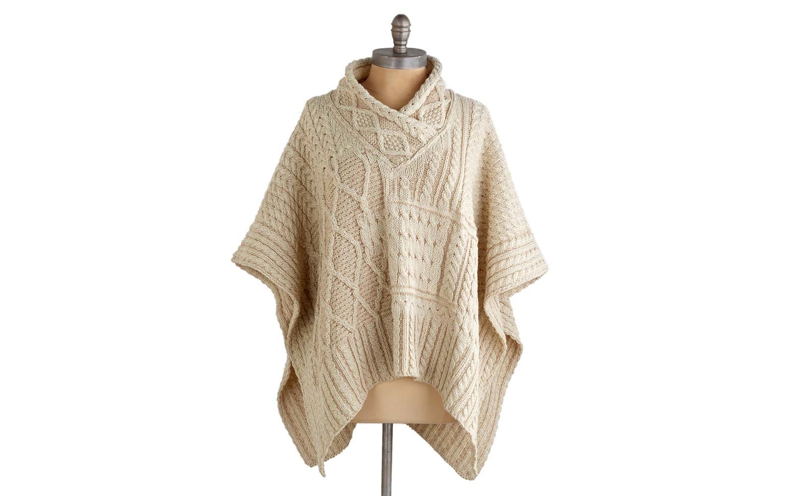 Travel Sweater Airplane Cardigan Fashion Aran Plaits poncho Novica