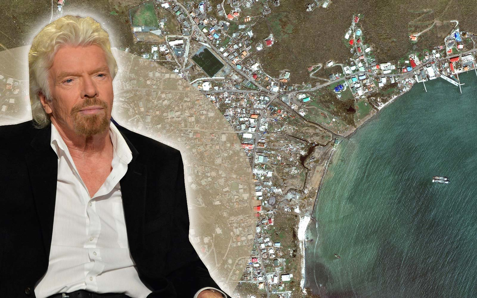 Richard Branson Hurricane Irma Caribbean British Virgin Islands Recovery Help