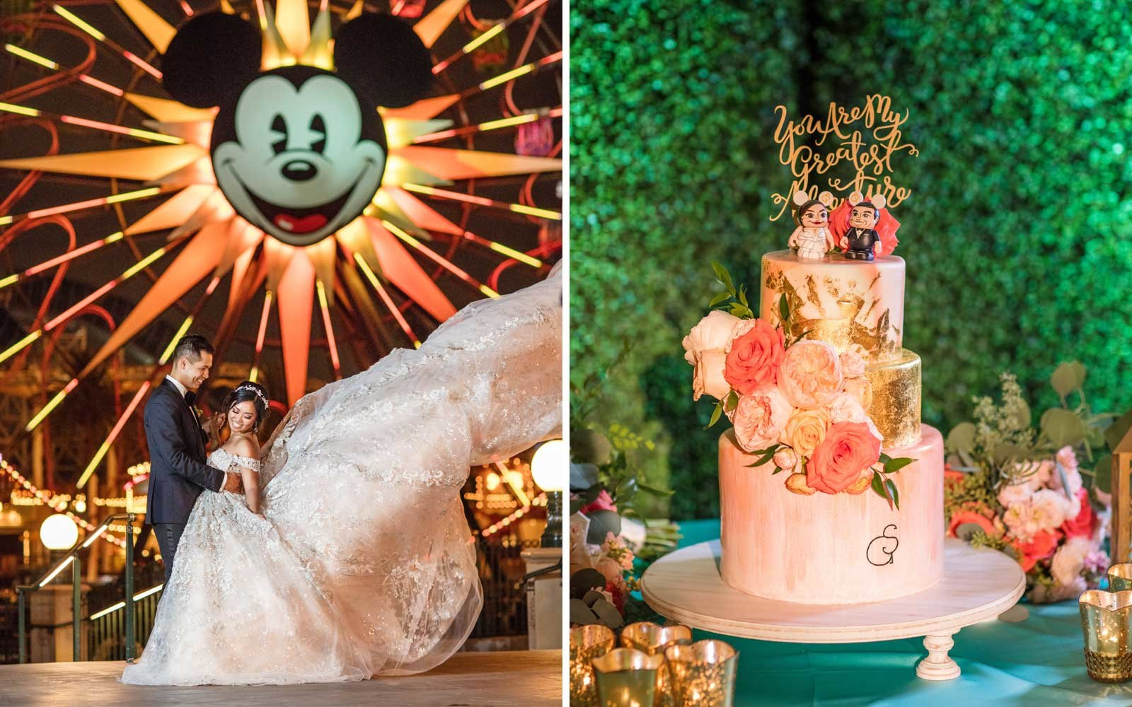 disney world wedding cake flavors this magical disney wedding was a real tale 13598