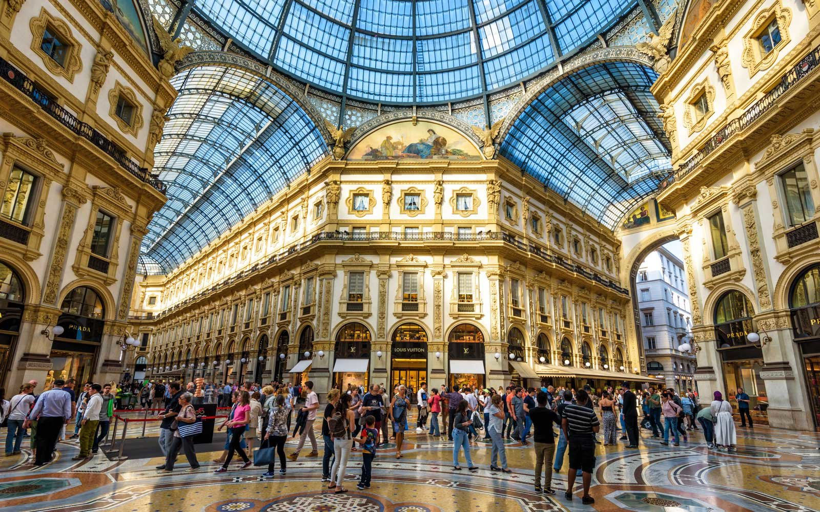 Shopping in Milan, Italy