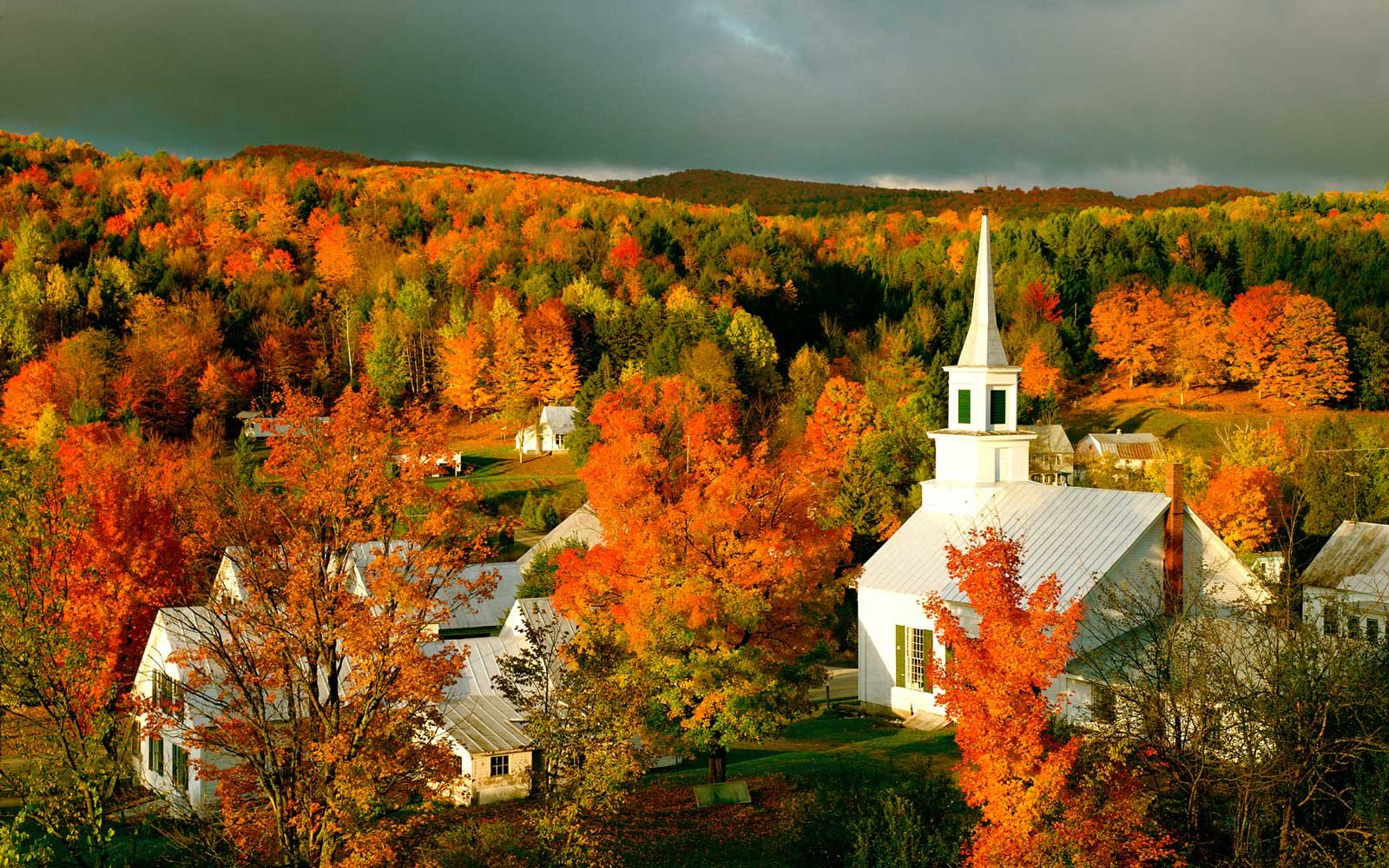 Autumn Foliage in Waits River, Vermont