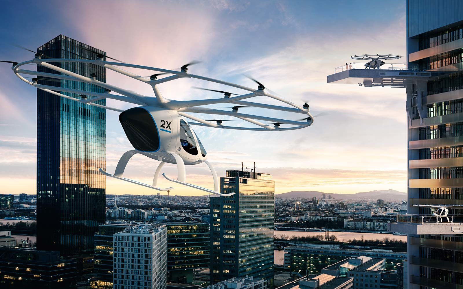 Volocopter flying taxi drone Dubai United Arab Emirates