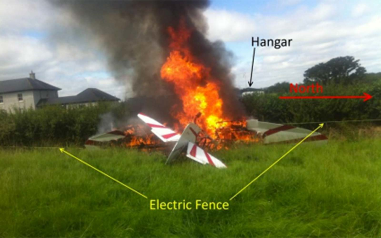 Ireland airplane takeoff accident