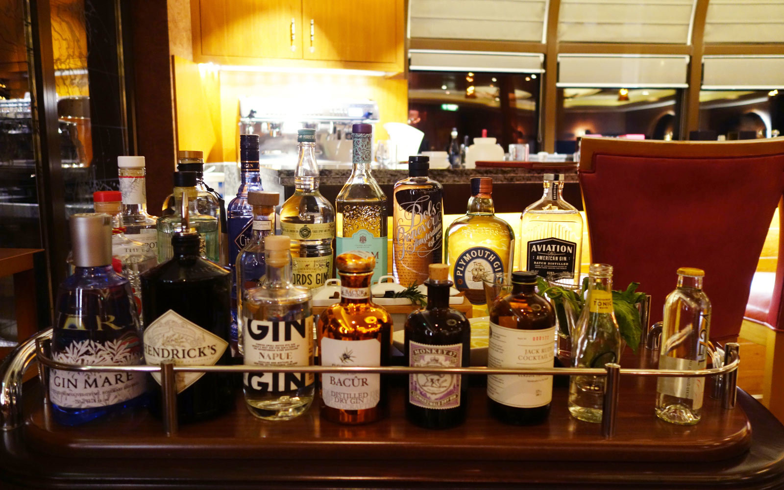 Bar Cart on Disney Cruise ship