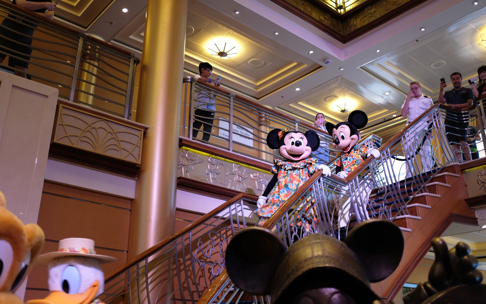 Disney characters on ship