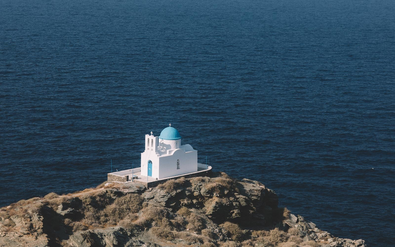 Church, Ocean, Sifnos, Greece