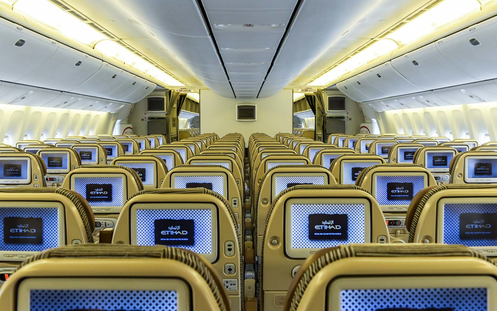 Etihad Airplane Cabin Interior
