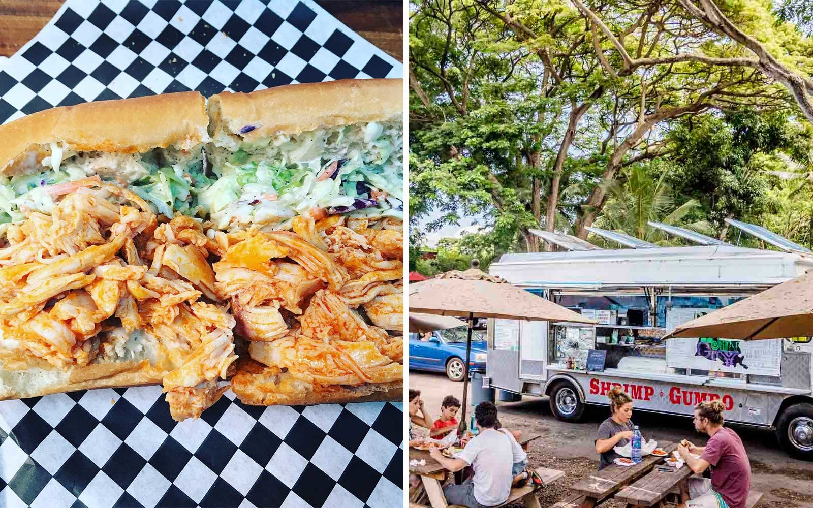 Po Boy's at Day Cajun Guy in Haleiwa Hawaii