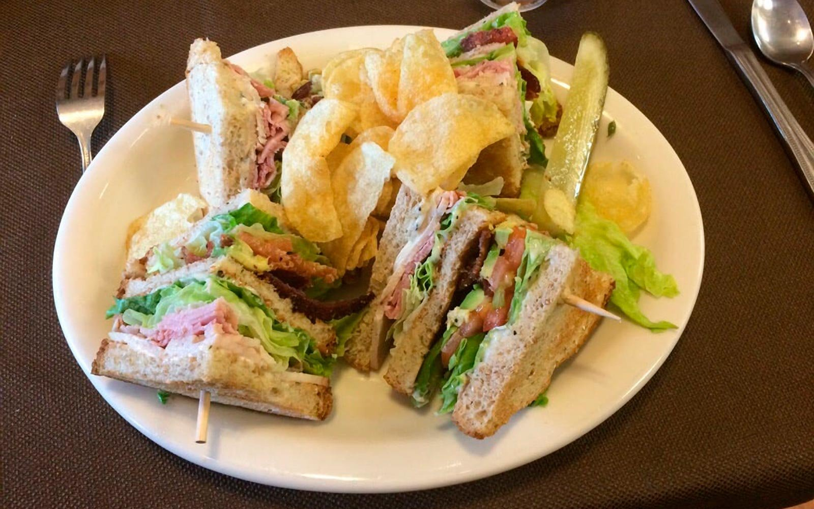 Club Sandwich at Main Street Eats in East Helena Montana