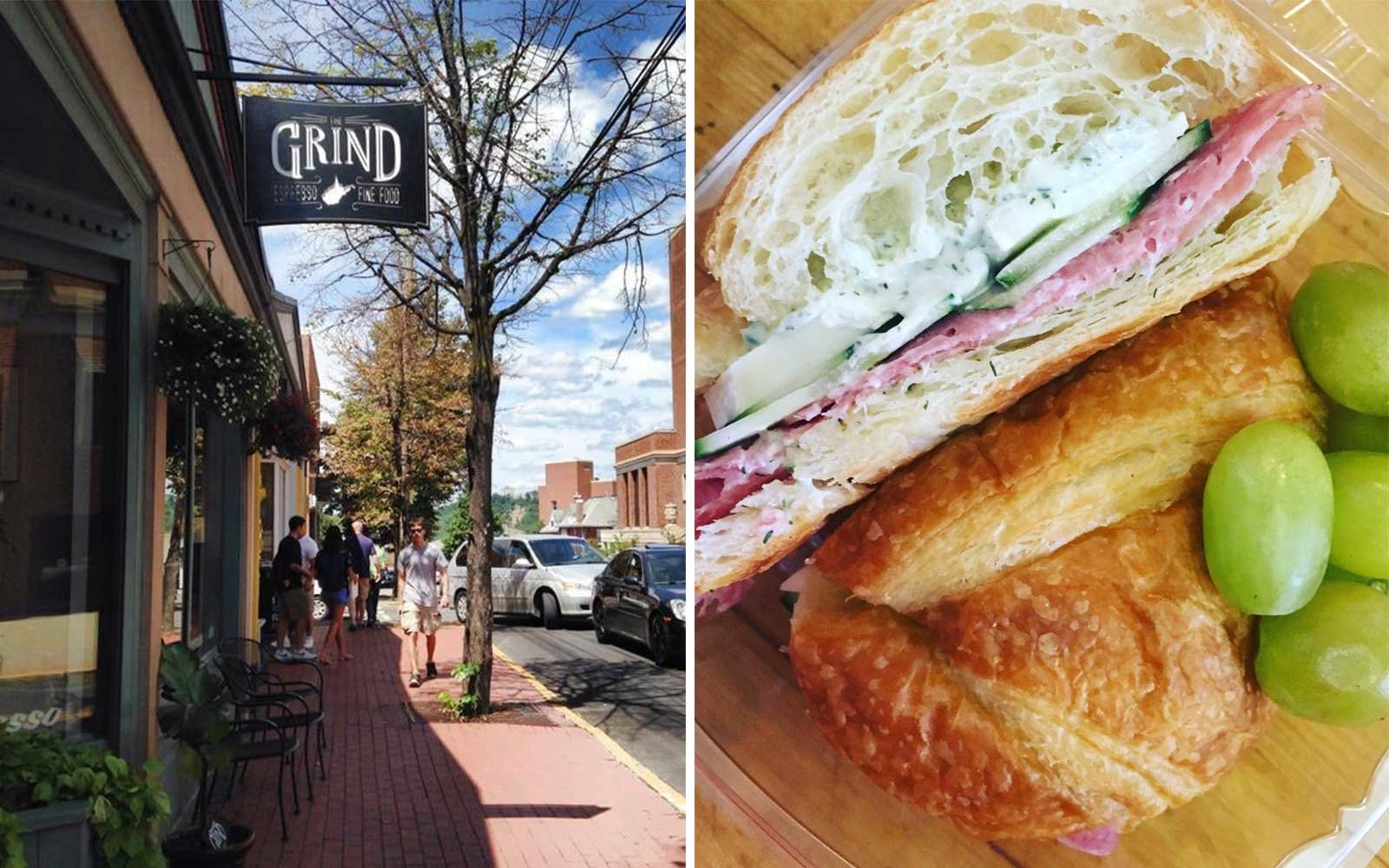 Sandwich at The Grind, in Morgantown West Virginia