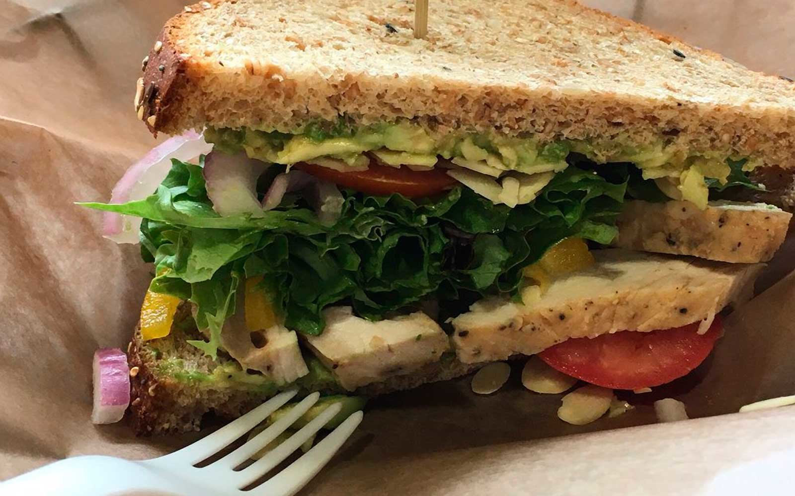 Sandwich at Rough and Refined in Lusk, Wyoming