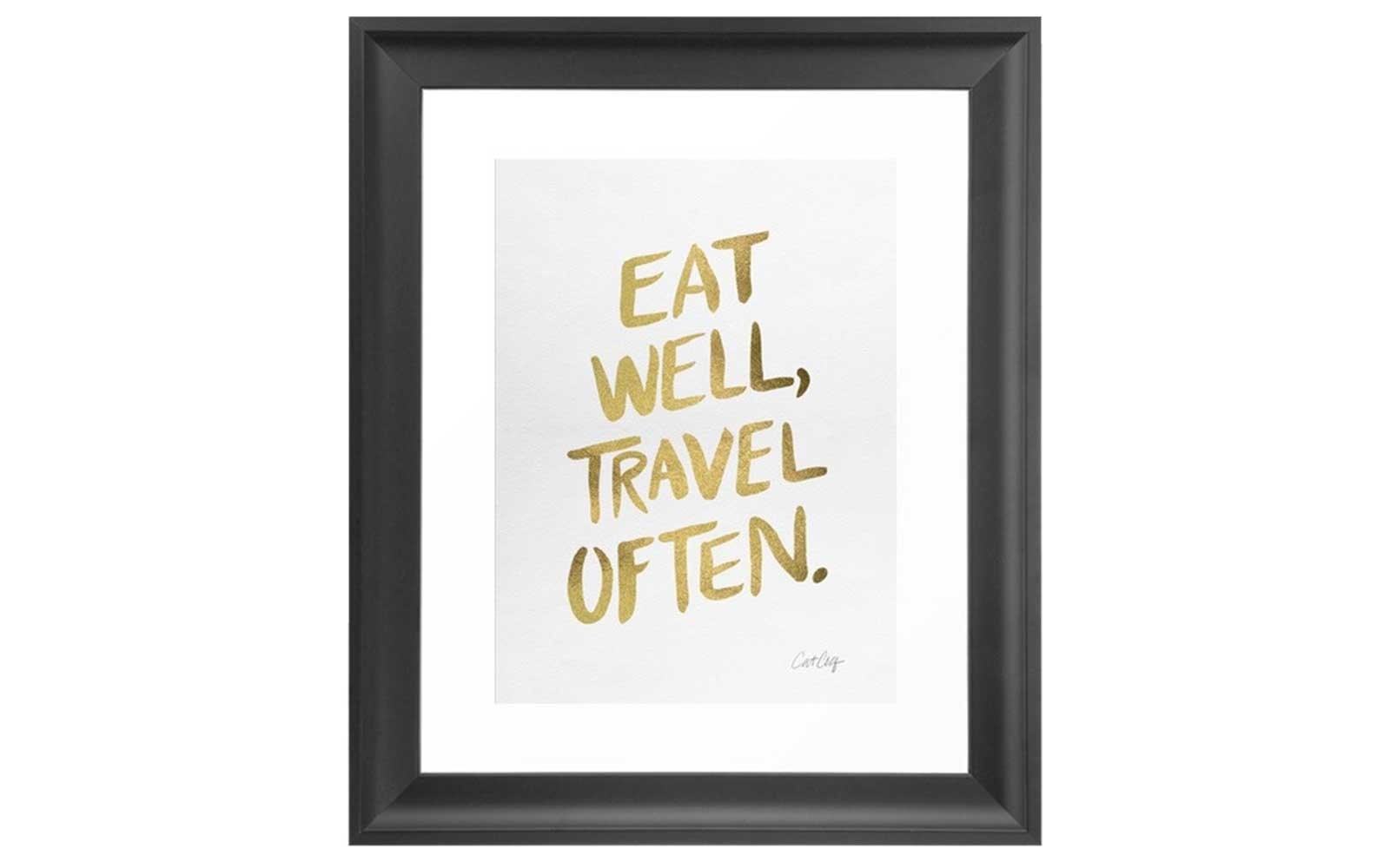 Gold Foil Travel Quote Print
