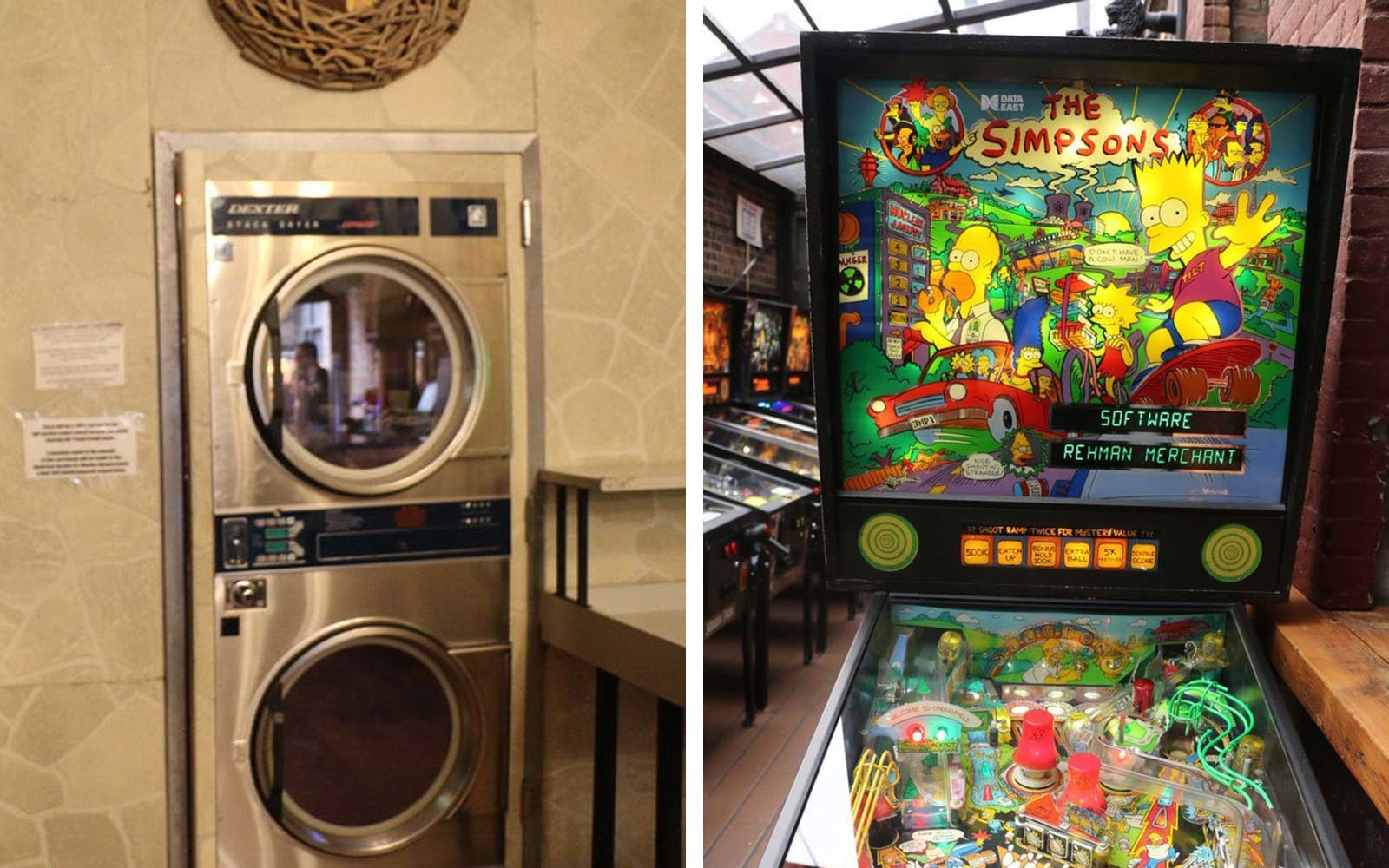 Hidden Secret Bars Around the World Sunshine Laundromat Pinball Greenpoint Brooklyn New York City