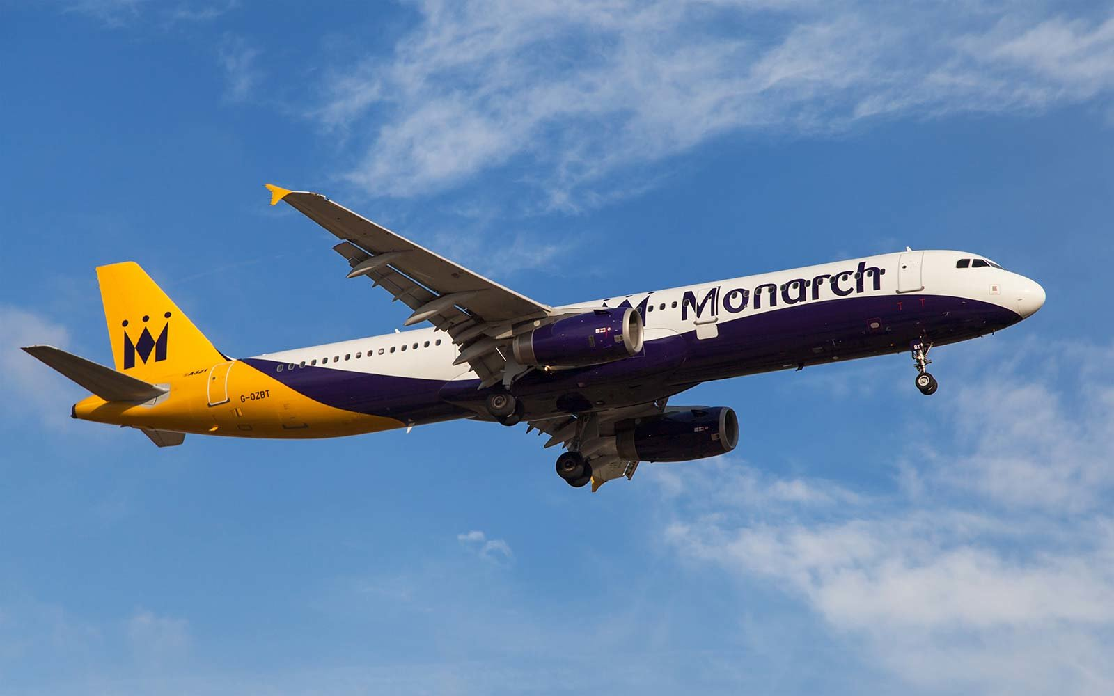 Monarch Airlines airplane flight