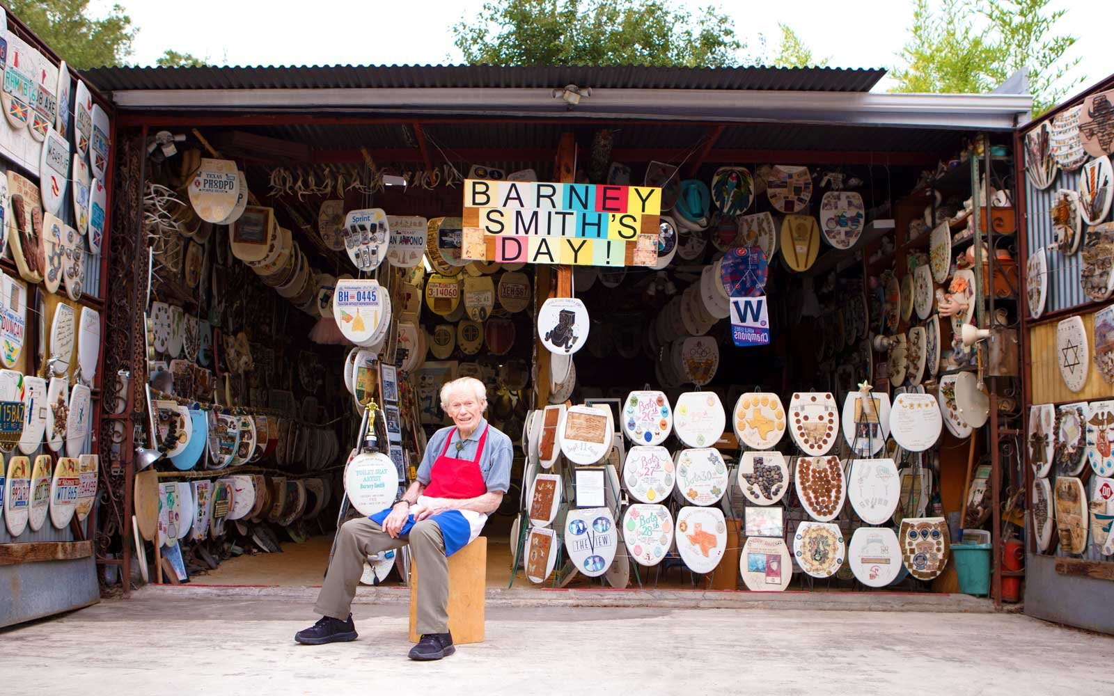 At 96 Years Old Barney Smith Is Putting His Toilet Seat