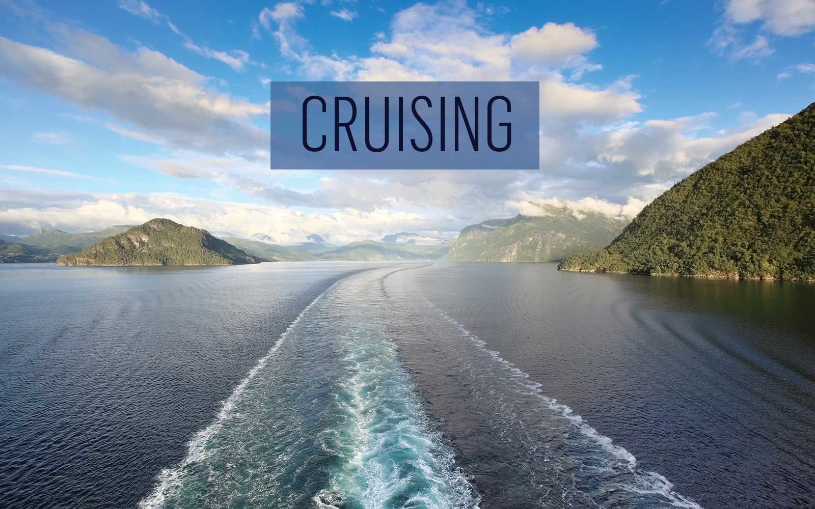 Cruise Ship Wake in Norway Fjords