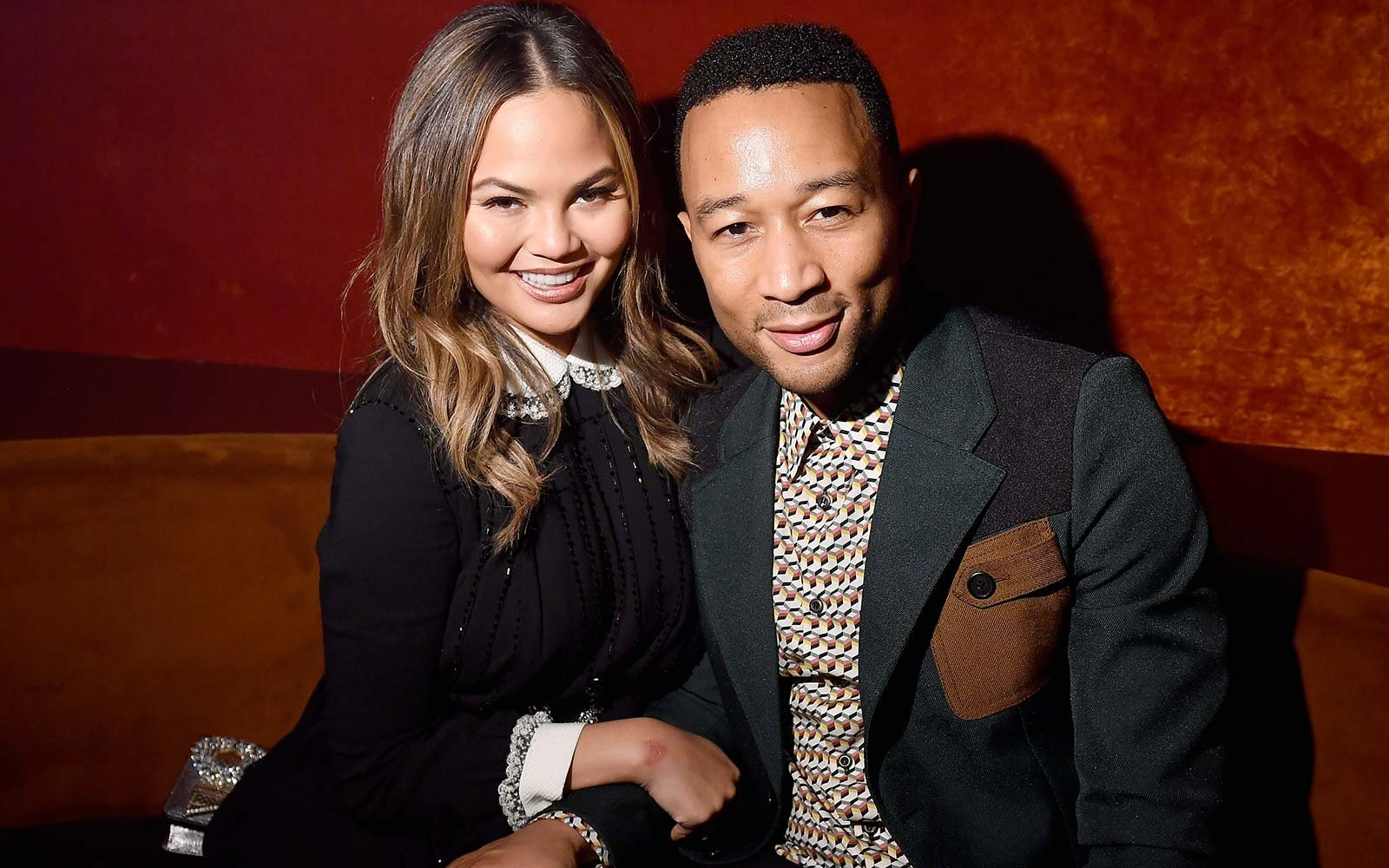 Chrissy Teigen John Legend Miu Miu Fashion Week Party Paris France