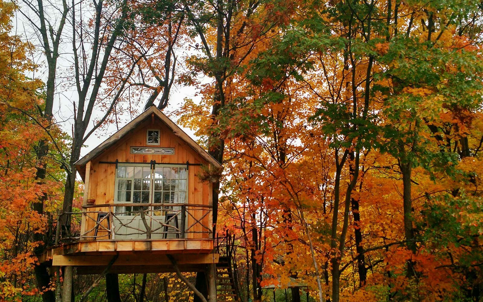 The Best Airbnbs to Rent for Fall Foliage Views | Travel +