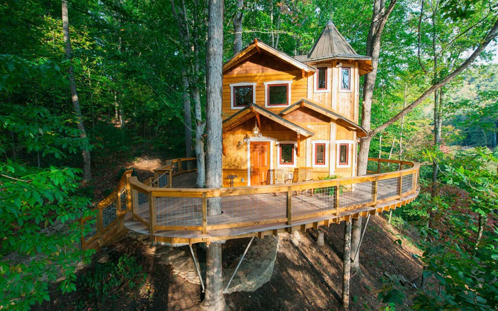 Airbnb Holiday Vacation Rental Treetop Asheville North Carolina