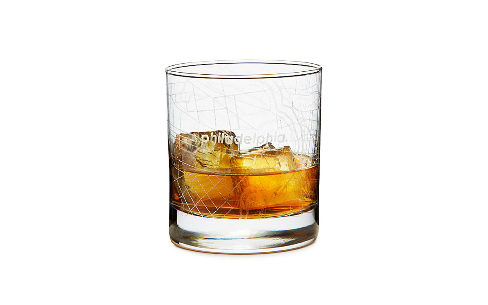 UnCommon Goods City Map Cocktail Glasses
