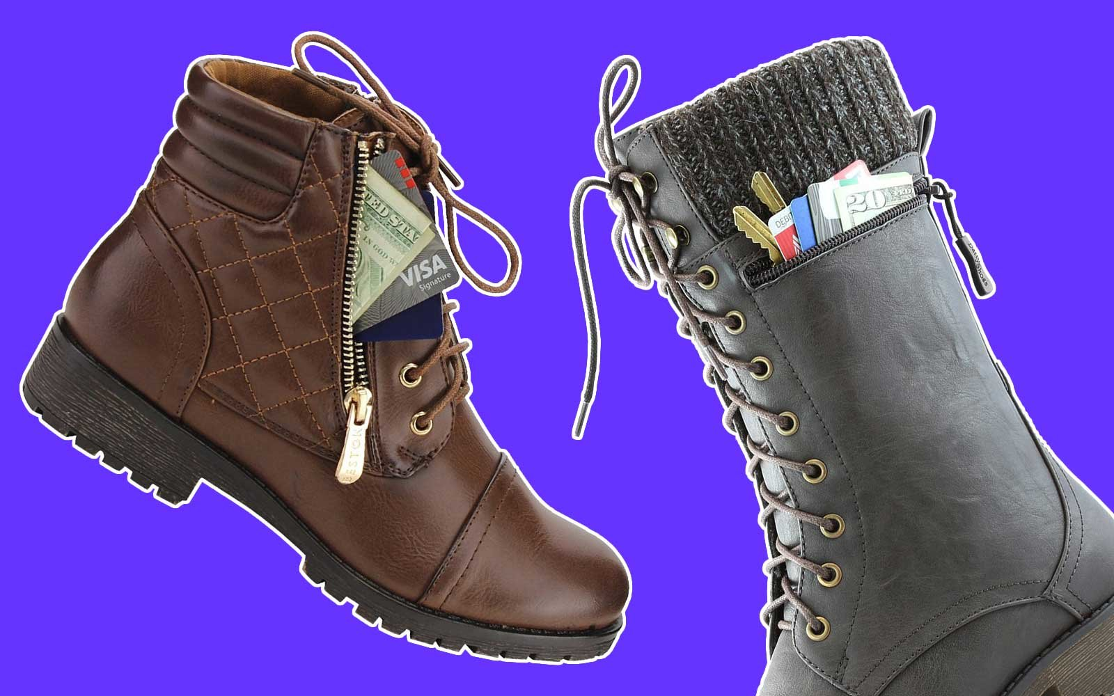 Boots with Pockets