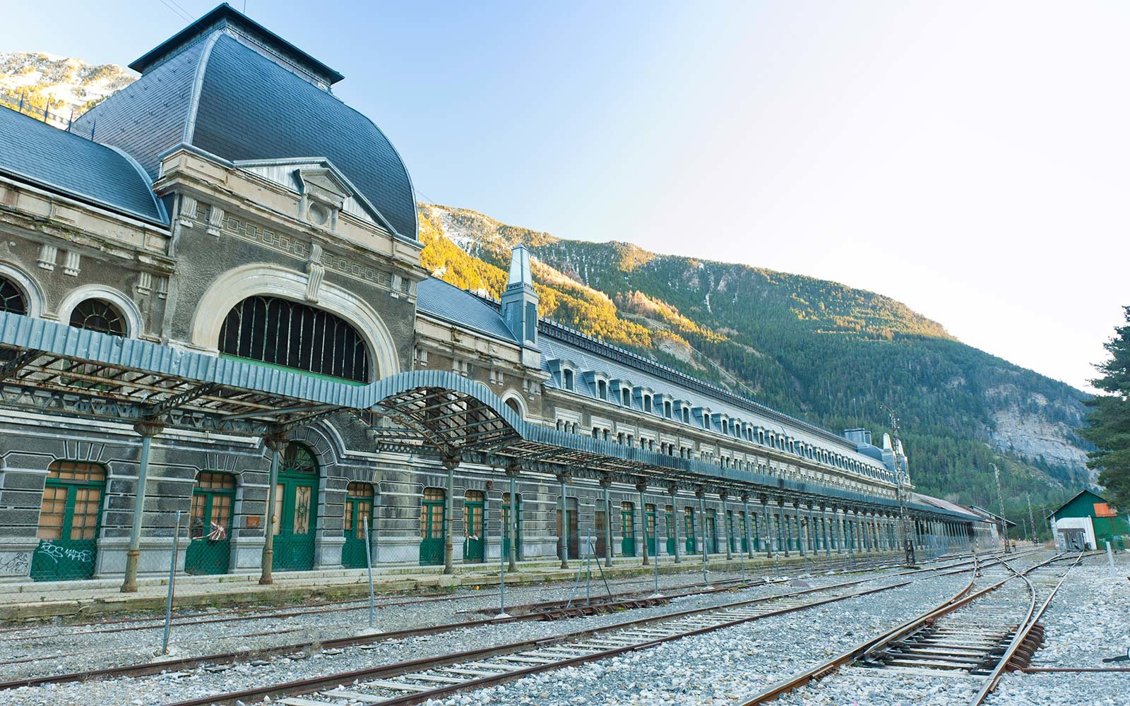 Canfranc International Railway railroad travel Spain Pyrenees France