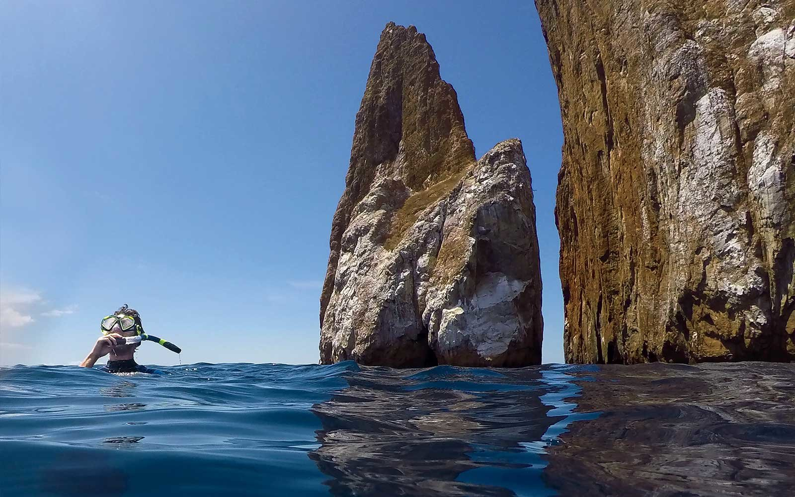 Snorkeling in Kicker Rock, Galapagos