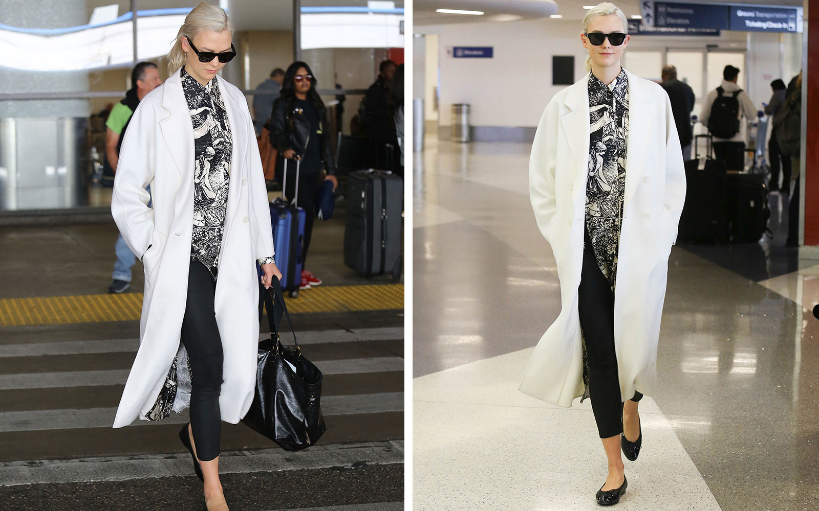 Karlie Kloss Airport Style