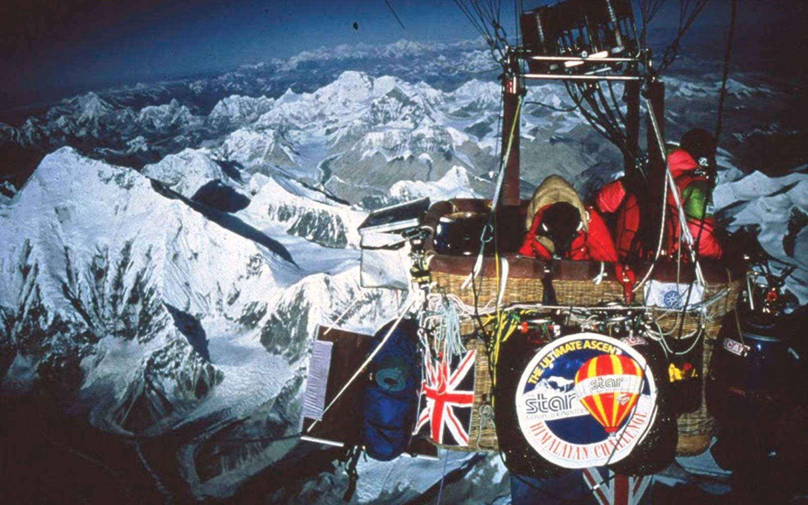 Soar over Mt. Everest in a hot air balloon