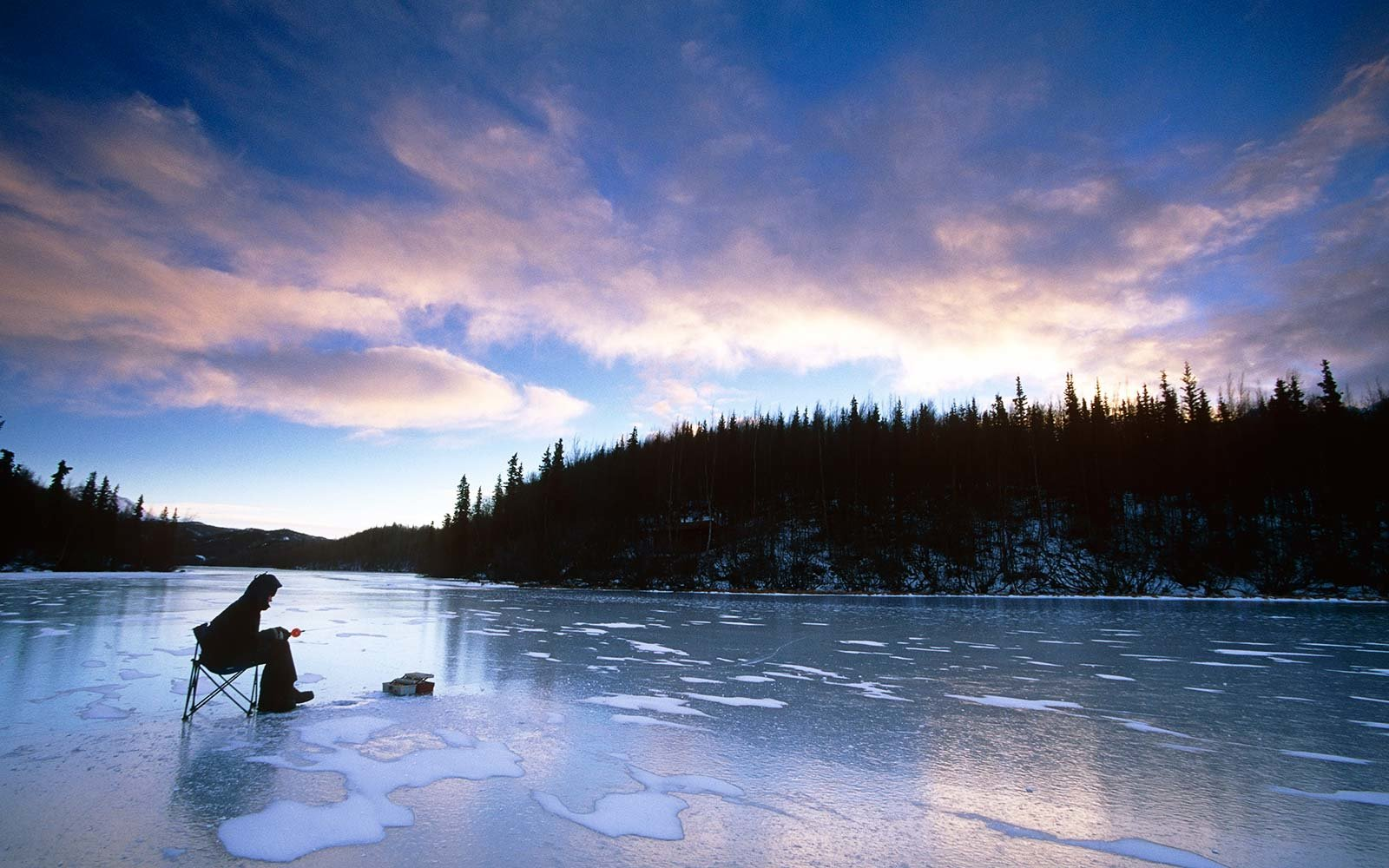 Go ice fishing in Alaska