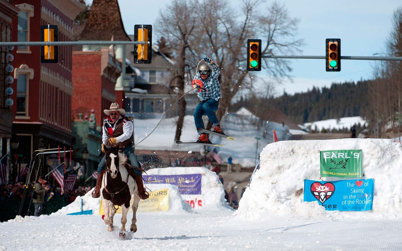 Unique Winter Snow Activities Skijoring Leadsville Colorado
