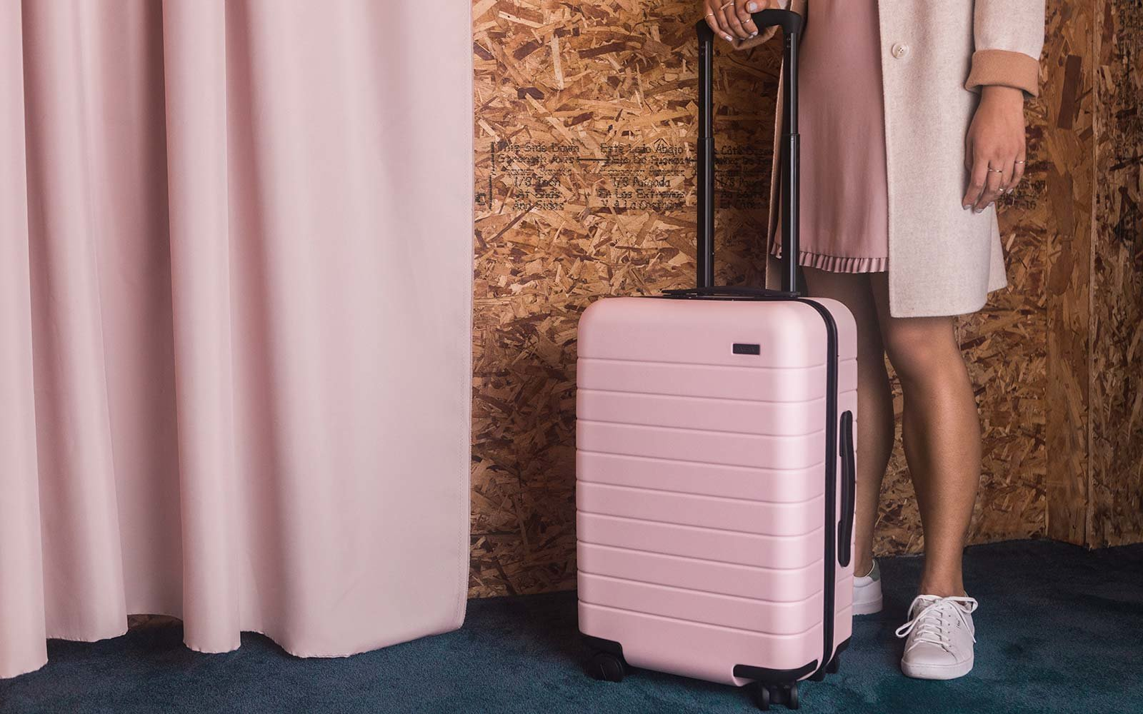 Away Luggage Travel Millennial Pink Blush Color