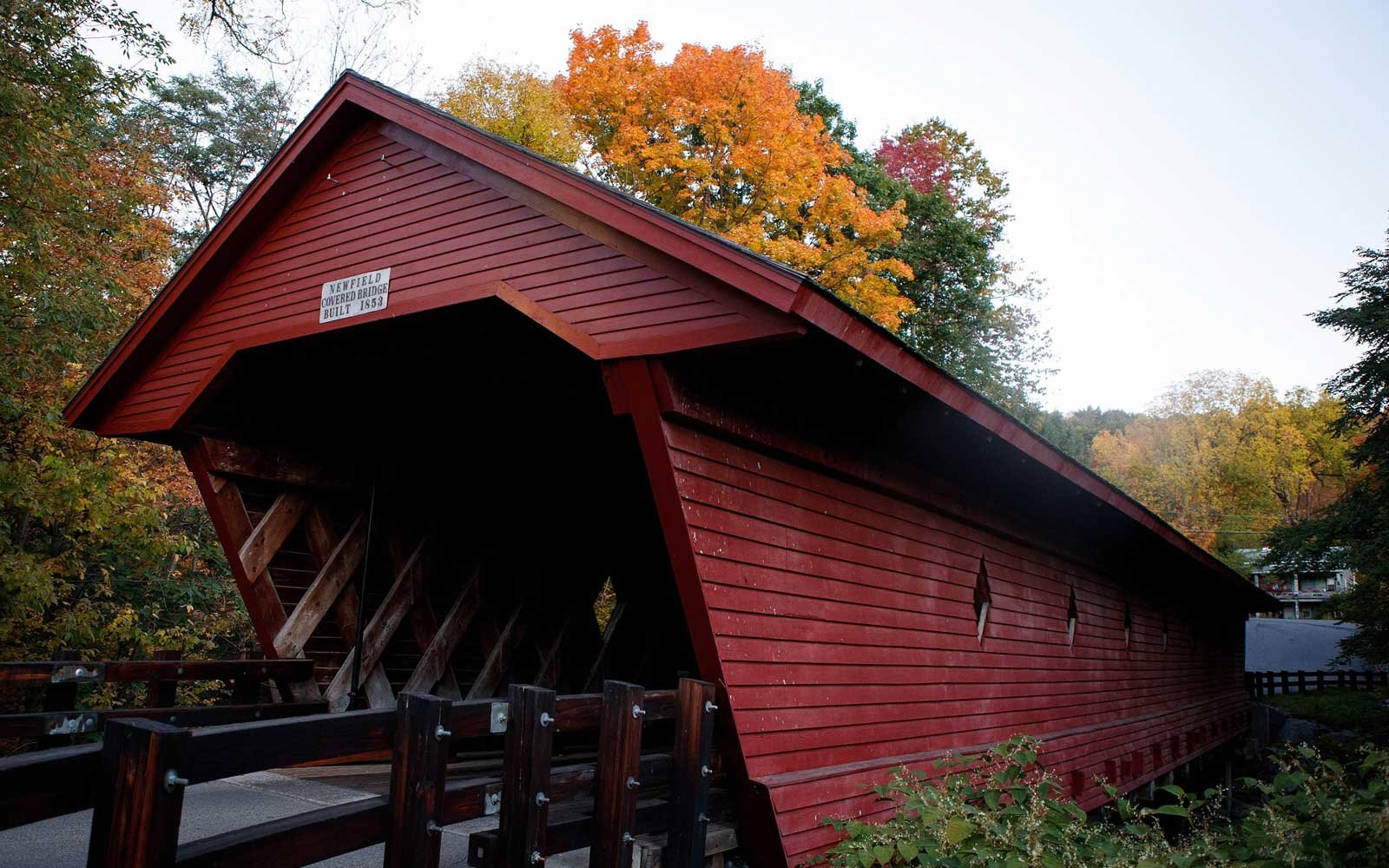 Newfield Covered Bridge Newfield New York