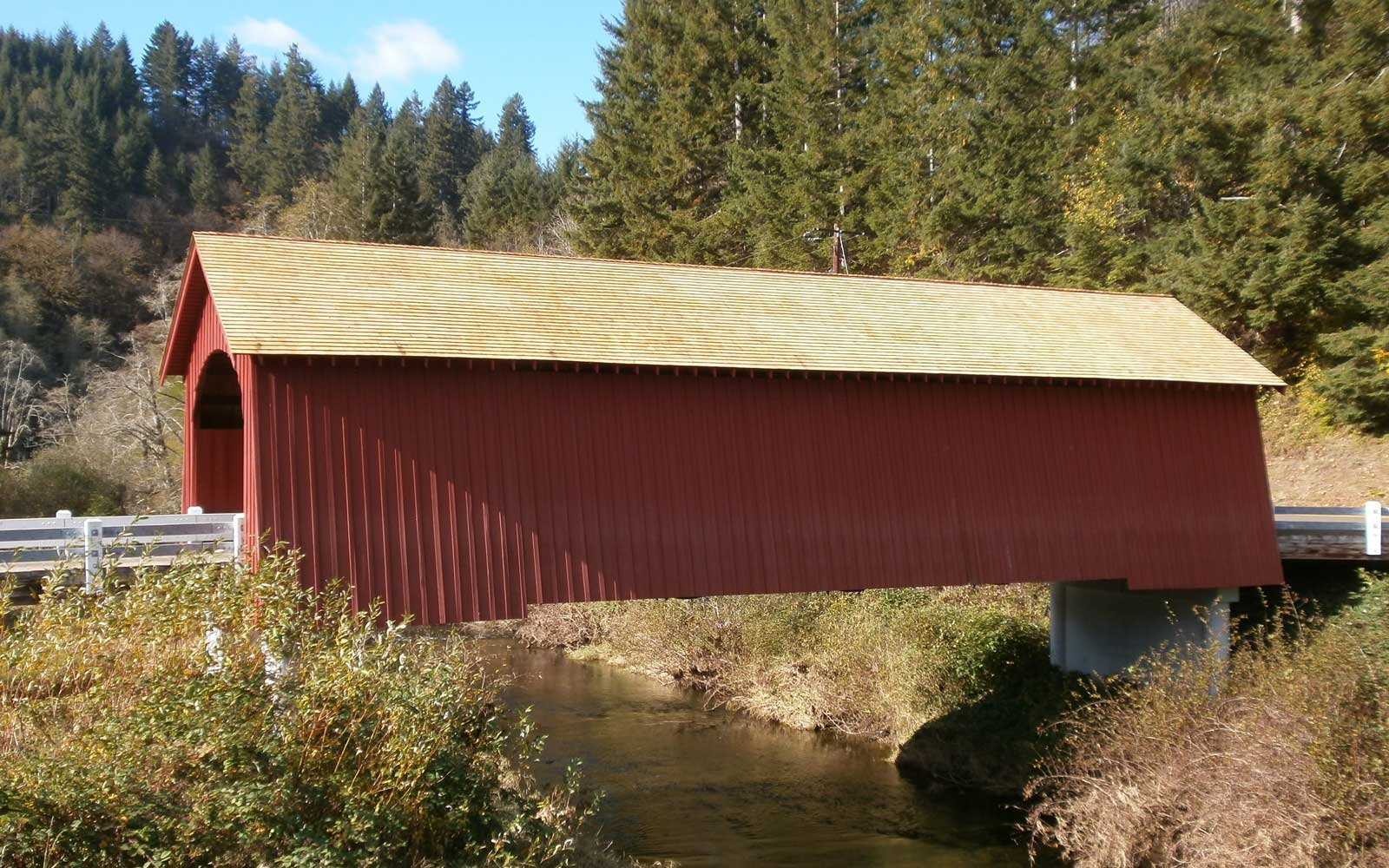 The Fisher School Bridge Tidewater Oregon