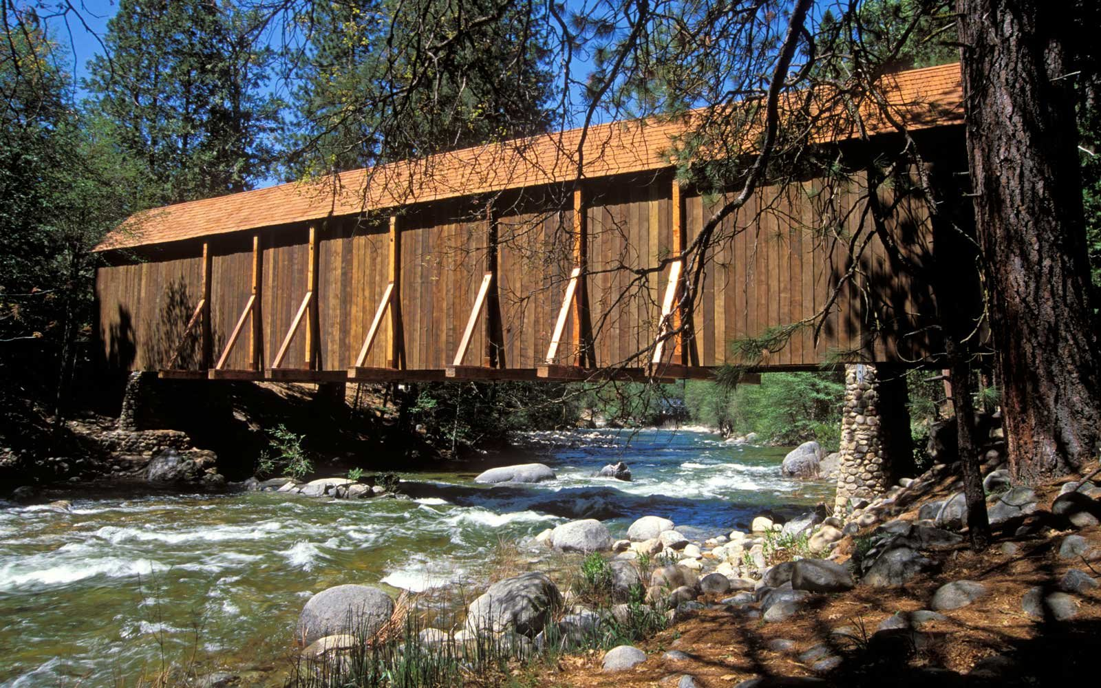 Wawona Covered Bridge Yosemite National Park California