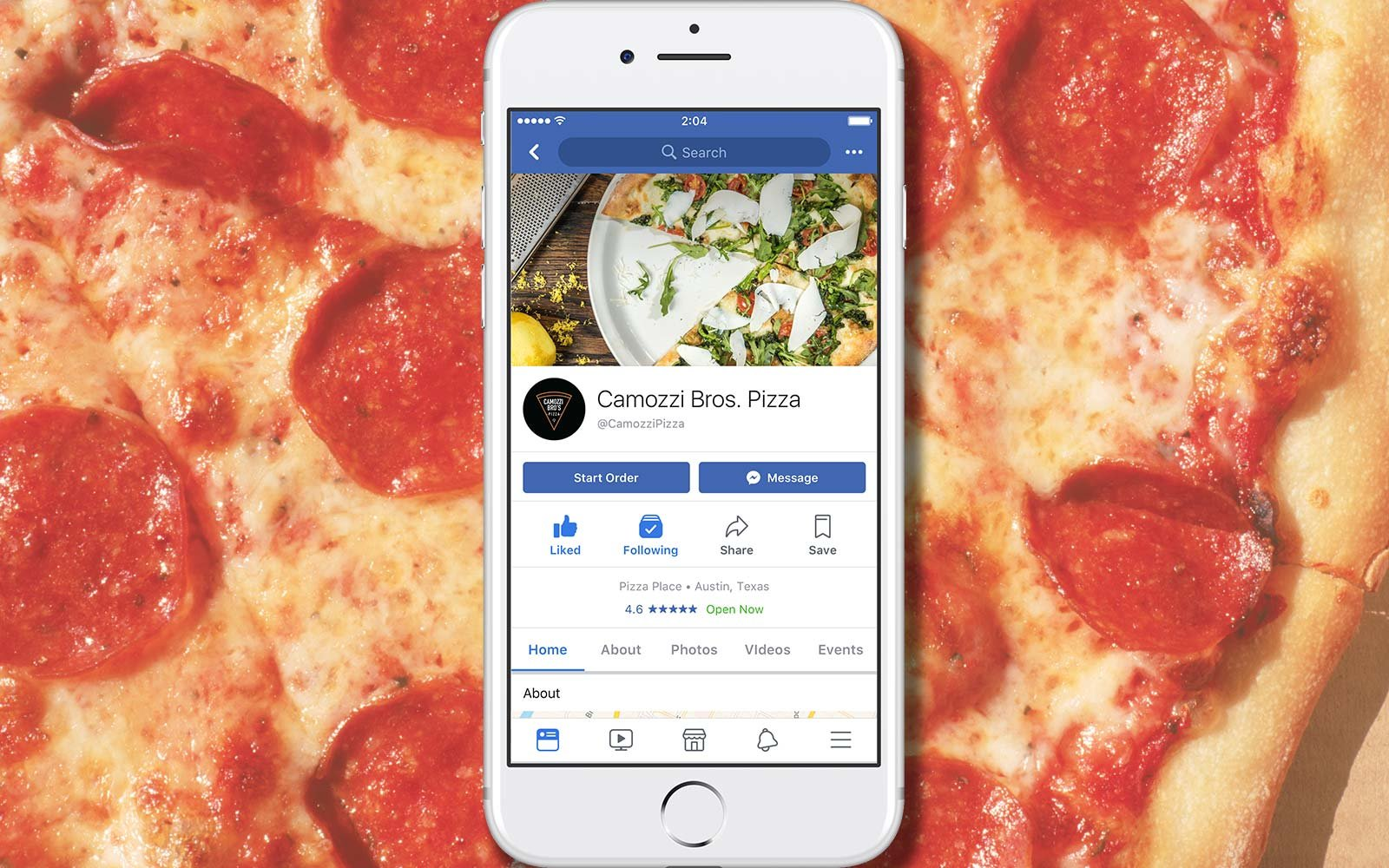 U.S.  customers can now order food through Facebook