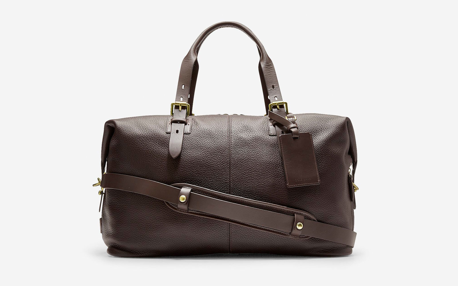 cole haan leather weekender