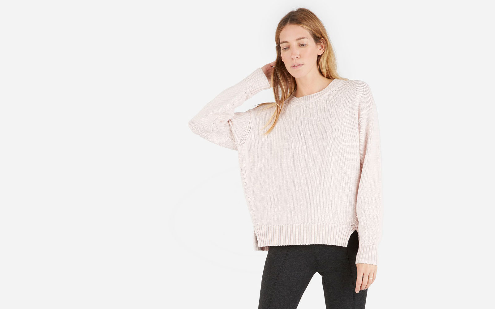 Everlane's The Chunky Knit Cotton Crew