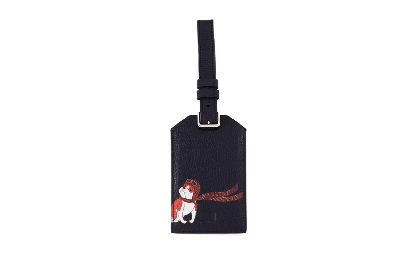 dunhill leather painted luggage tag neiman marcus holiday extravaganza gift