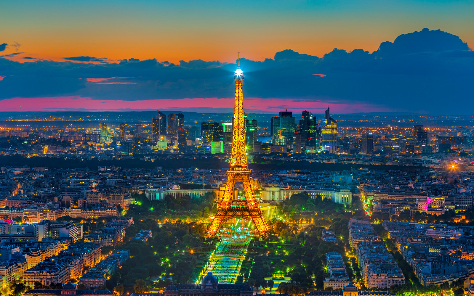 A view of the Eiffel Tower from Montparnasse.