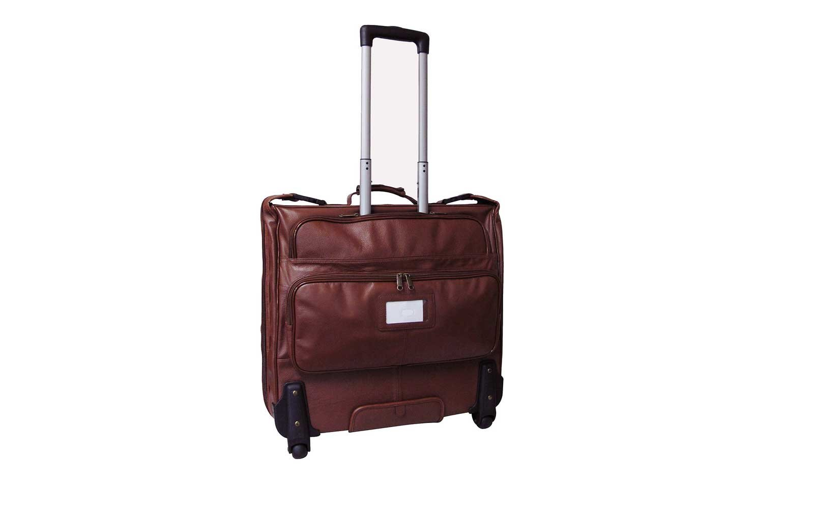 63451e38a1 AmeriLeather Wheeled Leather Garment Bag